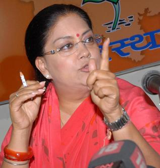 Vasundhra Raje is set to become chief minister of Rajasthan with two-third majority to her party.