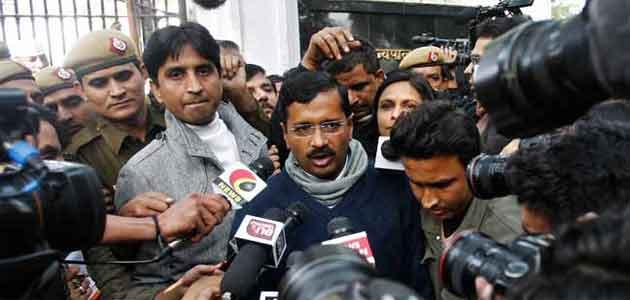 CM Arvind Kejriwal during his first Janta Darbar in Delhi.