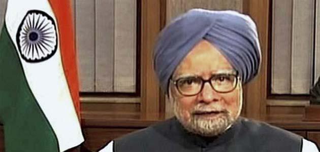 Manmohan Singh addressing his third press conference as PM.