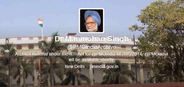 Twitter handle of PMO changed from @PMOIndia to @PMOIndiaArchive