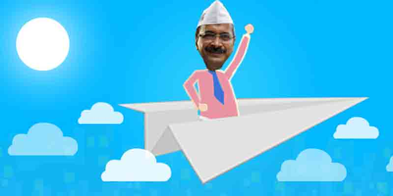 AAP, led by Arvind Kejriwal, is set to win 65 of 70 Assembly seats in Delhi.