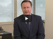 David Cameron appeals to UK voters to vote for Conservative.
