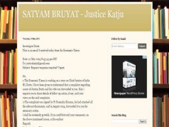 Justice Markandey Katju's blog on a dossier he had received with serious allegations against CJI H L Dattu.