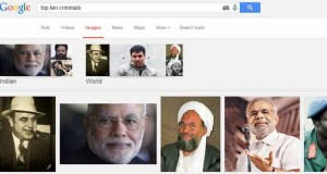 An image search in Google for top ten criminals shows the above result.